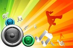 De achtergrond van DJ royalty-vrije illustratie