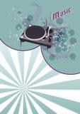De achtergrond van DJ Stock Afbeelding