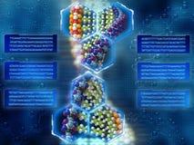 De achtergrond van DNA Stock Foto's