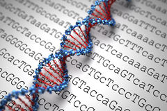 De Achtergrond van DNA (Type 05) Royalty-vrije Stock Afbeelding