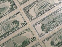 De achtergrond van de dollarrekeningen van de V Royalty-vrije Stock Foto