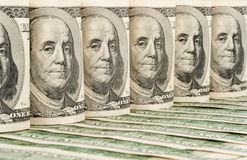 De achtergrond van dollars Stock Fotografie
