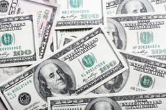 De achtergrond van dollars Stock Afbeelding