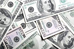 De achtergrond van dollars Royalty-vrije Stock Foto's