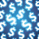 De Achtergrond van dollartekens Stock Foto