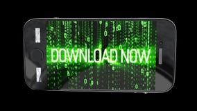 De achtergrond van de download nu motie stock videobeelden
