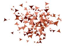 De Achtergrond van driehoekenconfettien stock illustratie