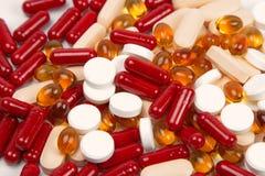 De achtergrond van drugs Stock Foto