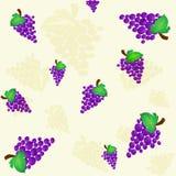 De achtergrond van druiven Stock Fotografie