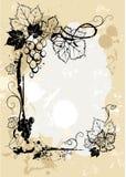 De achtergrond van druiven grunge Stock Foto