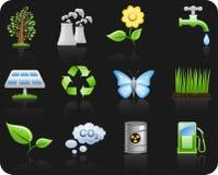 De achtergrond van Environment_black Royalty-vrije Illustratie
