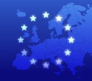 De achtergrond van Europa Stock Foto's
