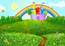 De achtergrond van Fairytale Stock Afbeeldingen