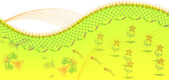 De achtergrond van Florabl Stock Afbeeldingen