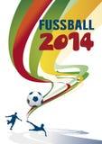 De achtergrond van Fussball 2014 Stock Foto