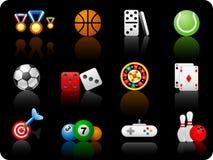 De achtergrond van Game_black stock illustratie