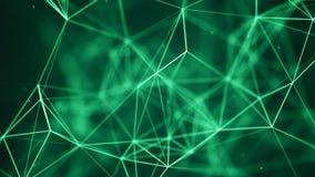 De Achtergrond van de gegevenstechnologie Grote gegevensvisualisatie Verbindend Dots And Lines De achtergrond van de wetenschap h stock illustratie
