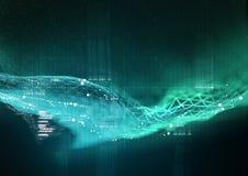 De achtergrond van de gegevensvisualisatie Stock Foto's