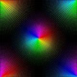 De achtergrond van gekleurde punten op een zwarte achtergrond is ge?soleerd Modieuze Vectorillustratie voor Webontwerp stock illustratie