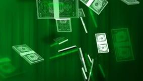 De achtergrond van de geldhd motie stock illustratie