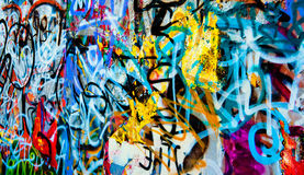 De achtergrond van Graffiti Stock Foto