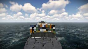 De Achtergrond van de de Grafiekanimatie van het containerschip vector illustratie