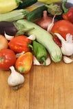 De achtergrond van groenten Royalty-vrije Stock Afbeeldingen
