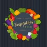 De achtergrond van groenten Gezond voedsel Natuurvoedingmenu Vlak varkenskot stock illustratie