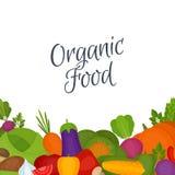 De achtergrond van groenten Gezond voedsel Vlakke stijl, vectorillustra stock illustratie