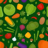 De achtergrond van groenten Verse groentenpatroon Organisch en hea stock illustratie