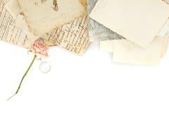 De achtergrond van Grunge - Liefde die concept verlaat Royalty-vrije Stock Afbeeldingen