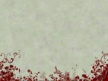 De achtergrond van Grunge met bloemen Stock Afbeelding