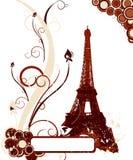 De achtergrond van Grunge met de toren van Eiffel Stock Foto's