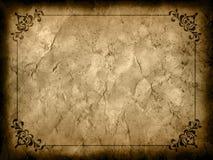 De achtergrond van Grunge met decoratieve grens Royalty-vrije Stock Afbeeldingen