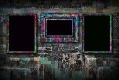 De achtergrond van Grunge met frames Royalty-vrije Stock Foto