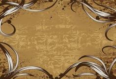 De achtergrond van Grunge met hand getrokken wervelingen Stock Afbeeldingen