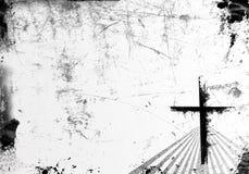 De Achtergrond van Grunge met Kruis Stock Afbeelding