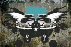 De achtergrond van Grunge met oldtimer stock foto