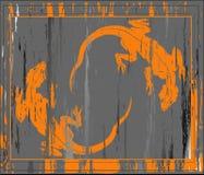 De achtergrond van Grunge met twee Liz vector illustratie