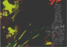 De achtergrond van Grunge met wijnstok stock illustratie
