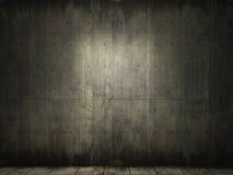 De achtergrond van Grunge van concrete ruimte Stock Foto