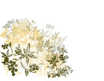 De Achtergrond van Grunge van de bloem royalty-vrije illustratie