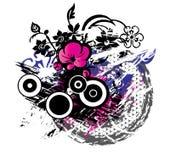 De Achtergrond van Grunge van de bloem Stock Afbeelding