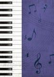 De Achtergrond van Grunge van de piano Stock Foto's