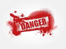 De Achtergrond van Grunge van het gevaar stock illustratie