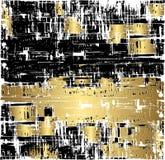 De Achtergrond van Grunge in Zwart en Gouden Stock Foto