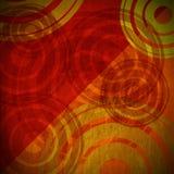 De Achtergrond van Grungecirkels - Warme Kleuren Royalty-vrije Stock Afbeeldingen