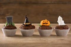 De achtergrond van Halloween cupcakes Royalty-vrije Stock Afbeelding