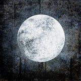 De achtergrond van Halloween grunge met volle maan op nacht bewolkte hemel royalty-vrije illustratie