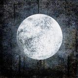 De achtergrond van Halloween grunge met volle maan op nacht bewolkte hemel stock illustratie